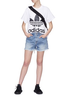 Adidas Trefoil logo print oversized T-shirt