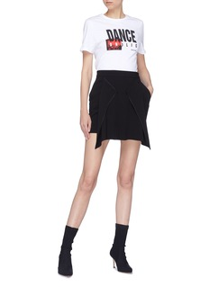 Neil Barrett Drape panel pleated mini skirt