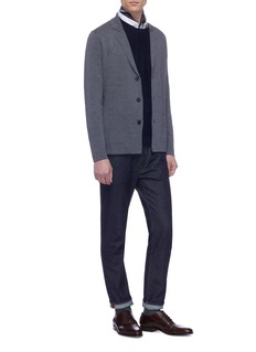 Altea Notched lapel virgin wool cardigan