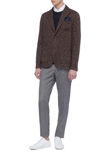 Altea Virgin wool blend herringbone soft blazer