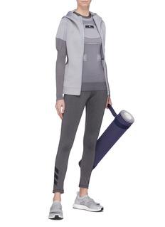 Adidas By Stella Mccartney Z.N.E' drawcord hem colourblock knit panel hoodie