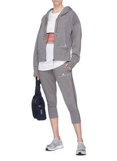 Adidas By Stella Mccartney 'Essentials' logo embroidered zip hoodie