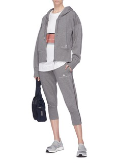 Adidas By Stella Mccartney 'Essentials' logo embroidered zip outseam sweat pants