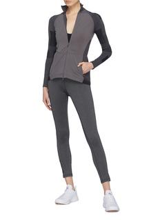 Adidas By Stella Mccartney 'Run Ultra Midlayer' Climaheat® panelled zip performance T-shirt