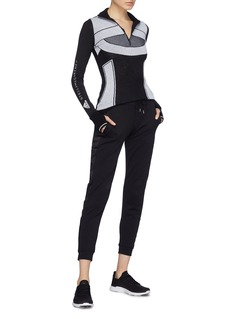 Adidas By Stella Mccartney 'Run Ultra' colourblock Climaheat® half-zip performance T-shirt