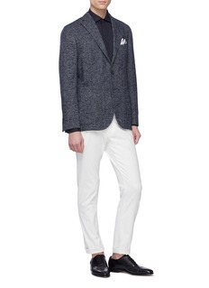 Boglioli 'K-Jacket' virgin wool blend herringbone soft blazer