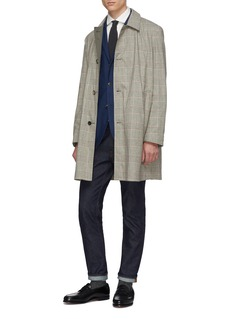 Boglioli Reversible houndstooth check plaid coat