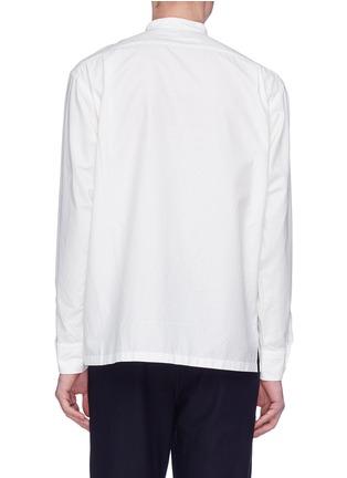 Back View - Click To Enlarge - Camoshita - Mandarin collar twill shirt