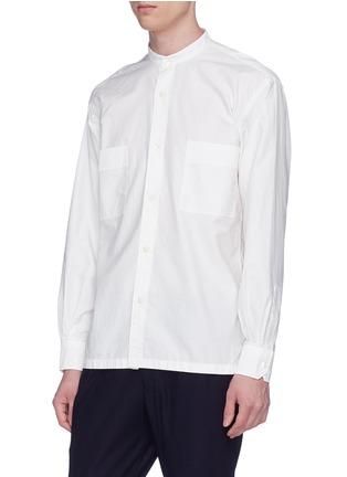 Front View - Click To Enlarge - Camoshita - Mandarin collar twill shirt