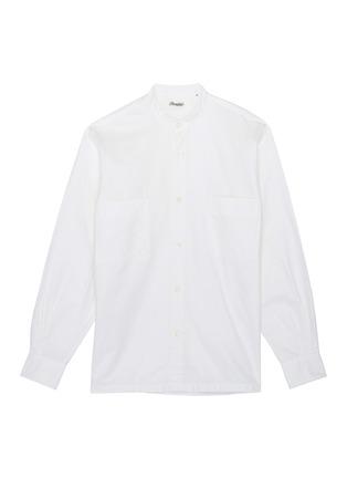 Main View - Click To Enlarge - Camoshita - Mandarin collar twill shirt