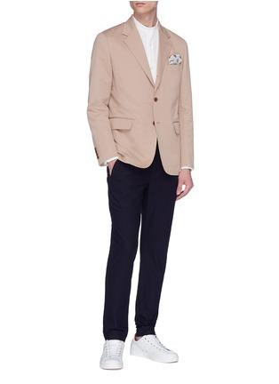 Figure View - Click To Enlarge - Camoshita - Mandarin collar twill shirt