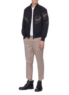 Neil Barrett Stripe cuff twill pants