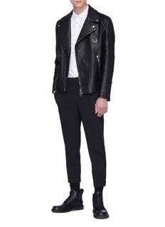 Neil Barrett Piercing patch leather biker jacket