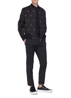 Neil Barrett Maltese cross print reversible bomber jacket