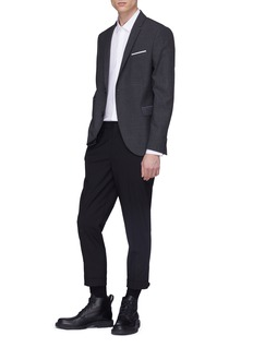 Neil Barrett Contrast flap pocket blazer