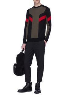 Neil Barrett Geometric intarsia Merino wool sweater