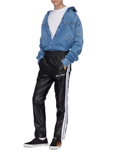Palm Angels Stripe outseam pintucked leather track pants