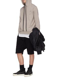 Ben Taverniti Unravel Project  Logo strap drop crotch sweat shorts