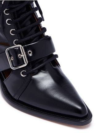 Detail View - Click To Enlarge - Chloé - 'Rylee' lace-up leather ankle boots