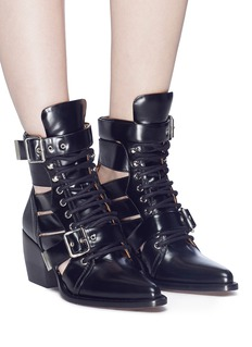 Chloé 'Rylee' lace-up leather ankle boots
