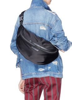 Stella McCartney 'Falabella Go' satin bum bag