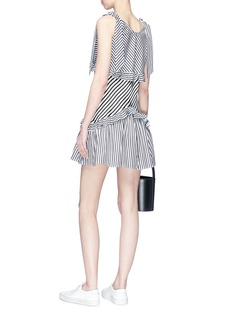 Maggie Marilyn Ruffle stripe mini dress