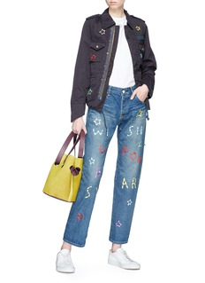 Tu Es Mon Trésor 'Wish upon a Star' slogan embroidered jeans