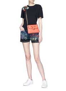 Tu Es Mon Trésor 'Wish upon a Star' embroidered denim shorts