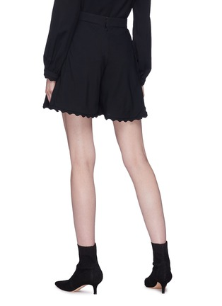 Back View - Click To Enlarge - Chloé - Scalloped shorts