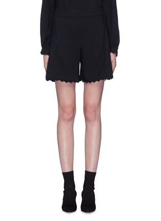 Main View - Click To Enlarge - Chloé - Scalloped shorts