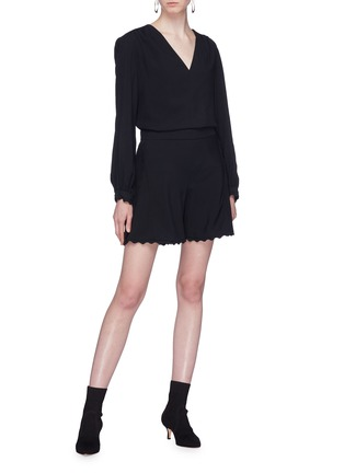 Figure View - Click To Enlarge - Chloé - Scalloped shorts