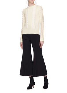 Chloé Cropped flared virgin wool pants