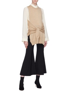 Chloé Cropped flared crepe pants