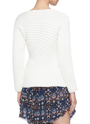 Back View - Click To Enlarge - CHLOÉ - Twist chunky rib knit sweater