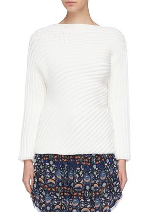 Main View - Click To Enlarge - CHLOÉ - Twist chunky rib knit sweater