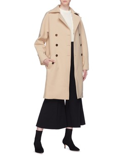 Chloé Double breasted belted virgin wool coat