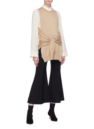 Chlo Sleeve Tie Wrap Knit Top Women Lane Crawford