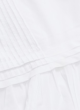 - Chloé - Blossom embroidered ruffle flared dress
