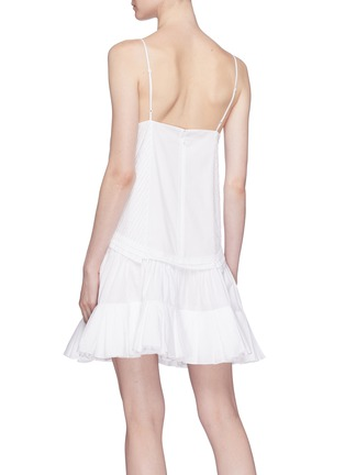 Back View - Click To Enlarge - Chloé - Blossom embroidered ruffle flared dress