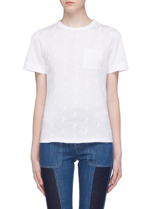 Main View - Click To Enlarge - Chloé - Horse embroidered T-shirt