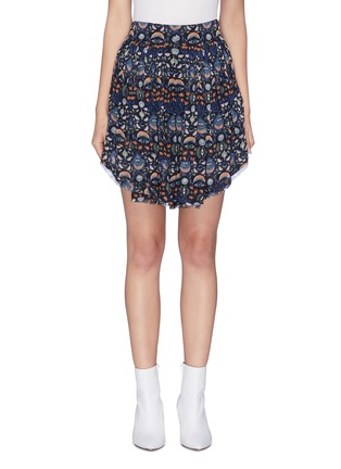 Main View - Click To Enlarge - Chloé - Ruffle blossom print skort