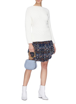 Figure View - Click To Enlarge - Chloé - Ruffle blossom print skort