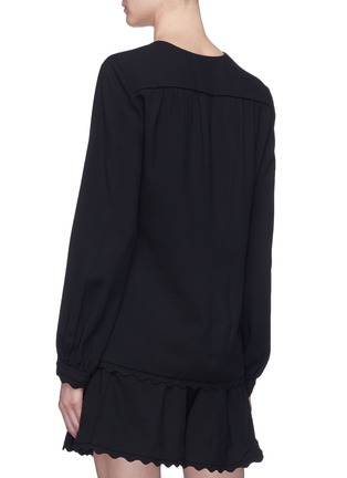Back View - Click To Enlarge - Chloé - Scalloped hem blouse