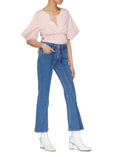 Aalto Pleated flap flared jeans