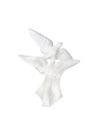 Main View - Click To Enlarge - LALIQUE - Two Swallows grand sculpture – Clear