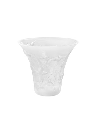 Main View - Click To Enlarge - LALIQUE - Hirondelles flared vase –Clear