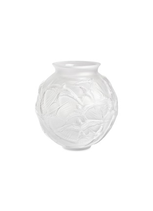 Main View - Click To Enlarge - LALIQUE - Hirondeles medium vase –Clear