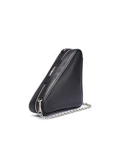 Balenciaga 'Triangle' logo print small leather shoulder bag