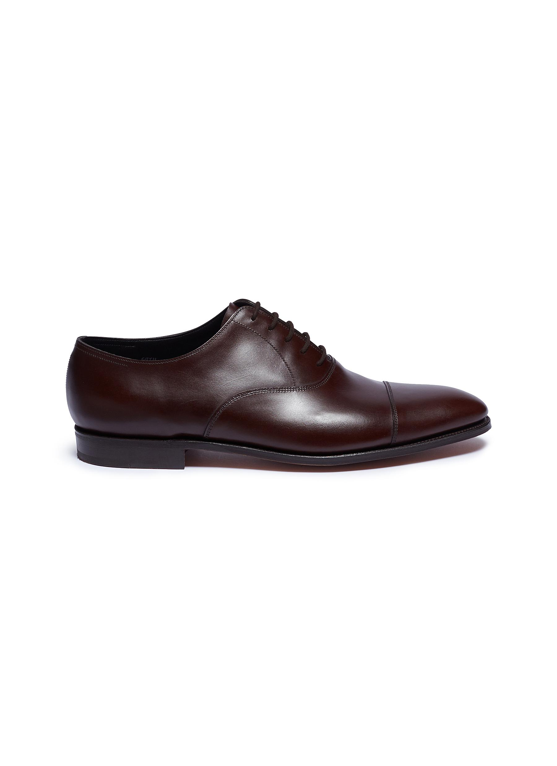 John Lobb Men's Hartland Classic Leather Oxfords In Brown