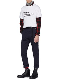 Sacai x The New York Times 'Truth' slogan print T-shirt